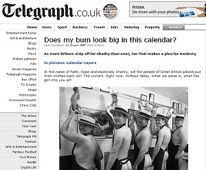 Telegraph website feature